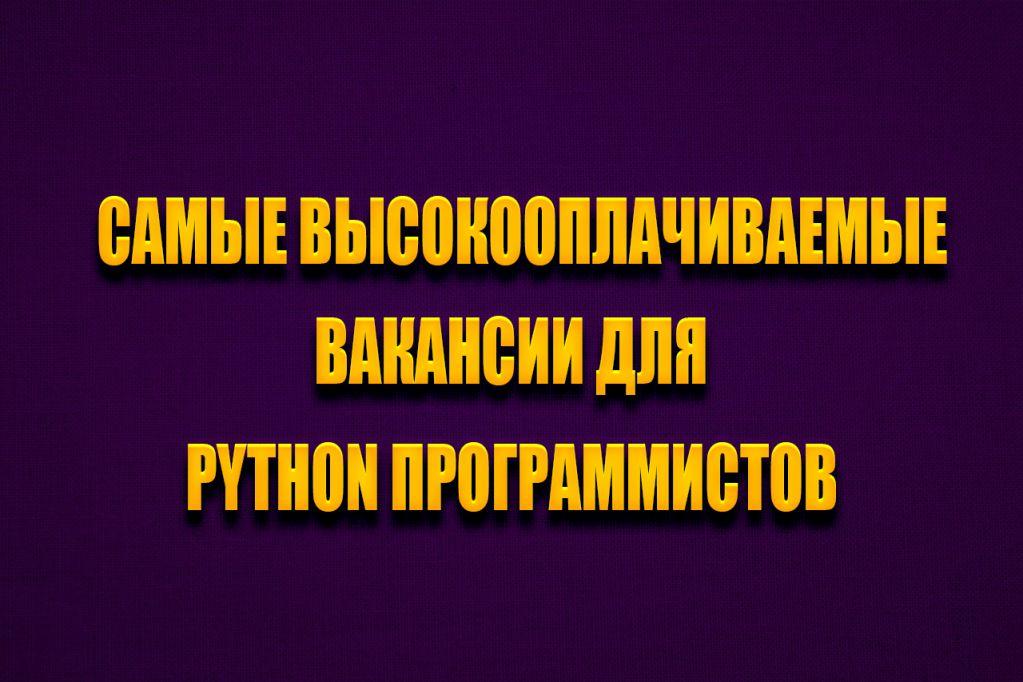 программист python вакансии